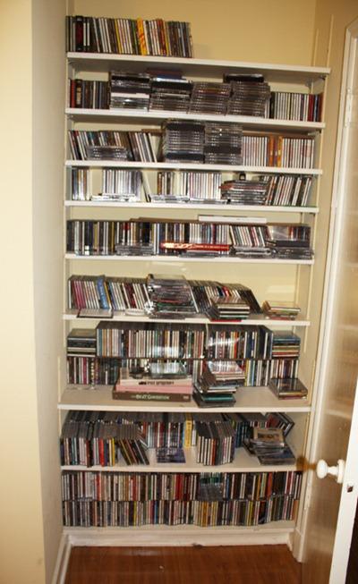 CDs-behind-door