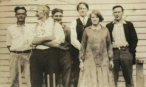 1920s - Dad's father on right - with parents and brothers - cropped