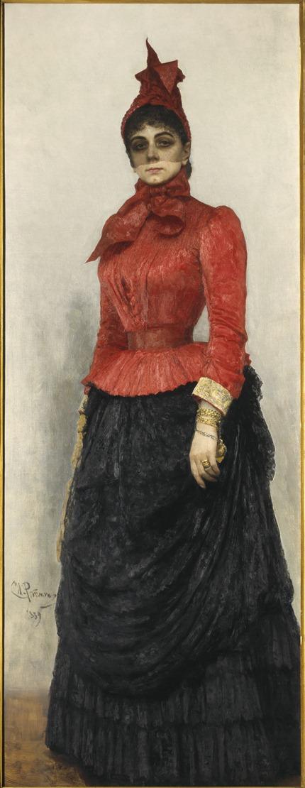 PZ 401-038-753 Ilya Repin Portrait of Baroness Varvara Ikskul von Hildenbandt, 1889 The State Tretyakov Gallery