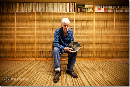 Joe Bussard, Frederick, MA.. Born July 11, 1936, has what believed to be the largest 78 RPM record collection in the world.Dust & Grooves is a photo and interview project documenting vinyl collectors in their most intimate environment: their record room. www.dustandgrooves.com (C) All Rights Reserved to Eilon Paz & Dust & Grooves
