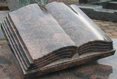 book tombstone