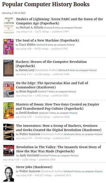 Goodreads Computer History Books
