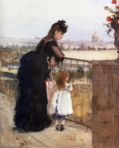 Woman and Child on a Balcony by Berthe Morisot 1871