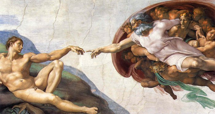 Creation of Adam by Michelangelo_700
