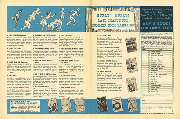 Scholastic Order Form 1963