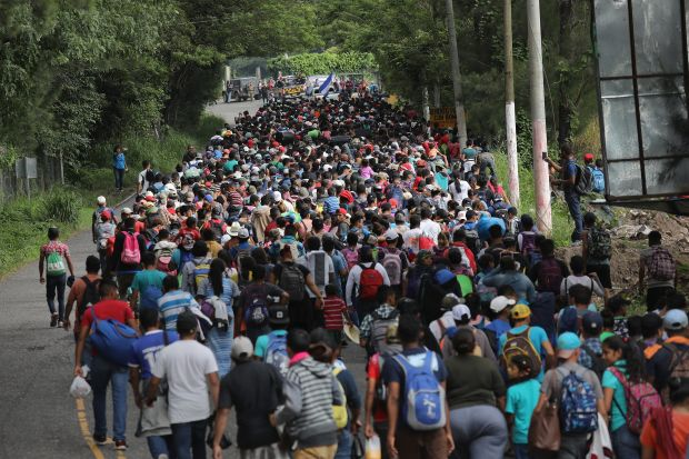 Honduran migrant caravan October 2018