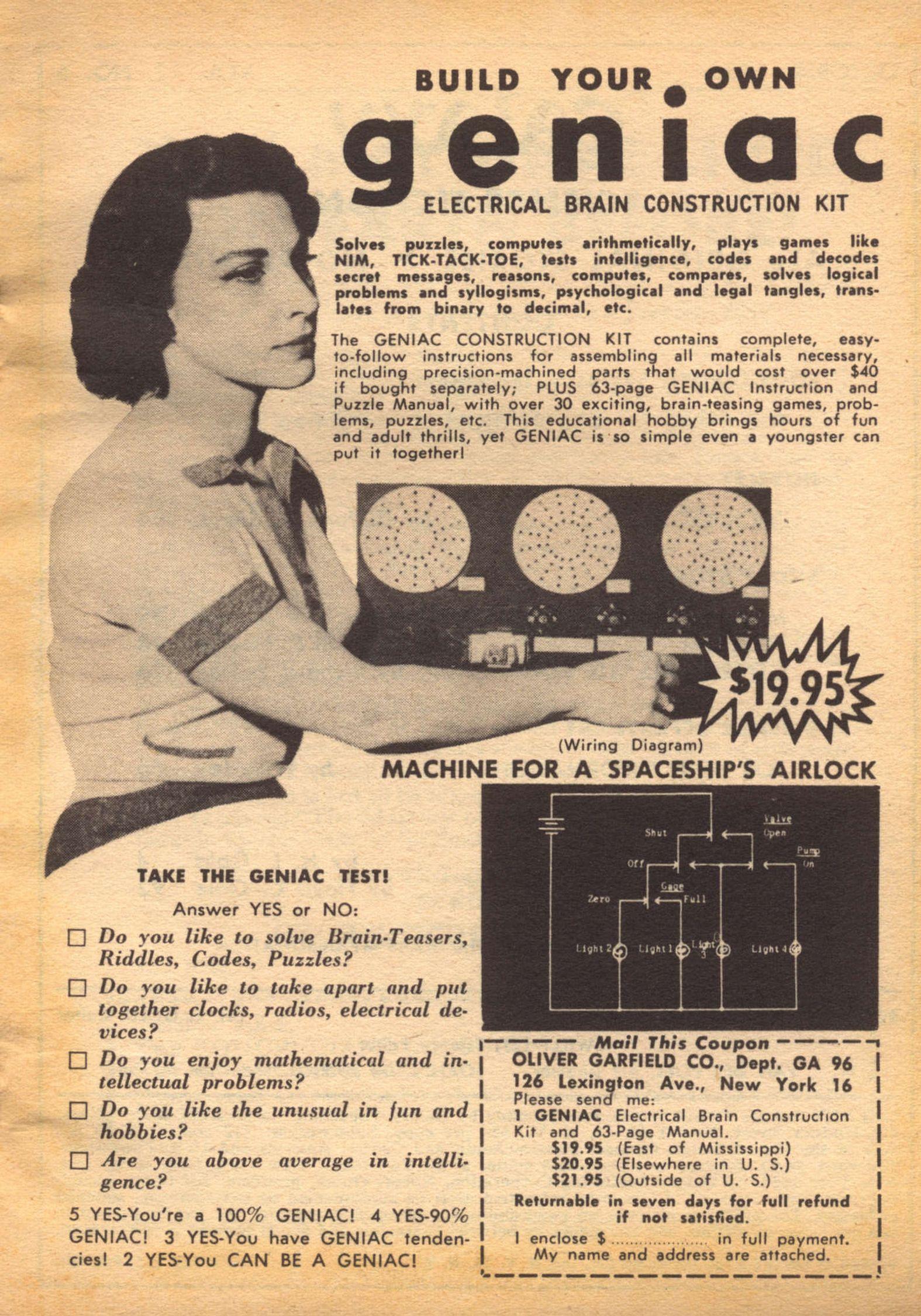 Geniac - Galaxy 1956-10