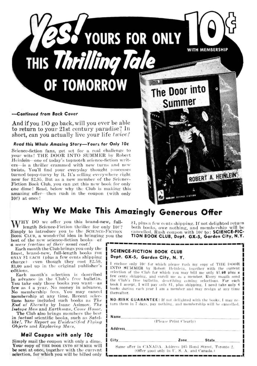 Door Into Summer ad page 2
